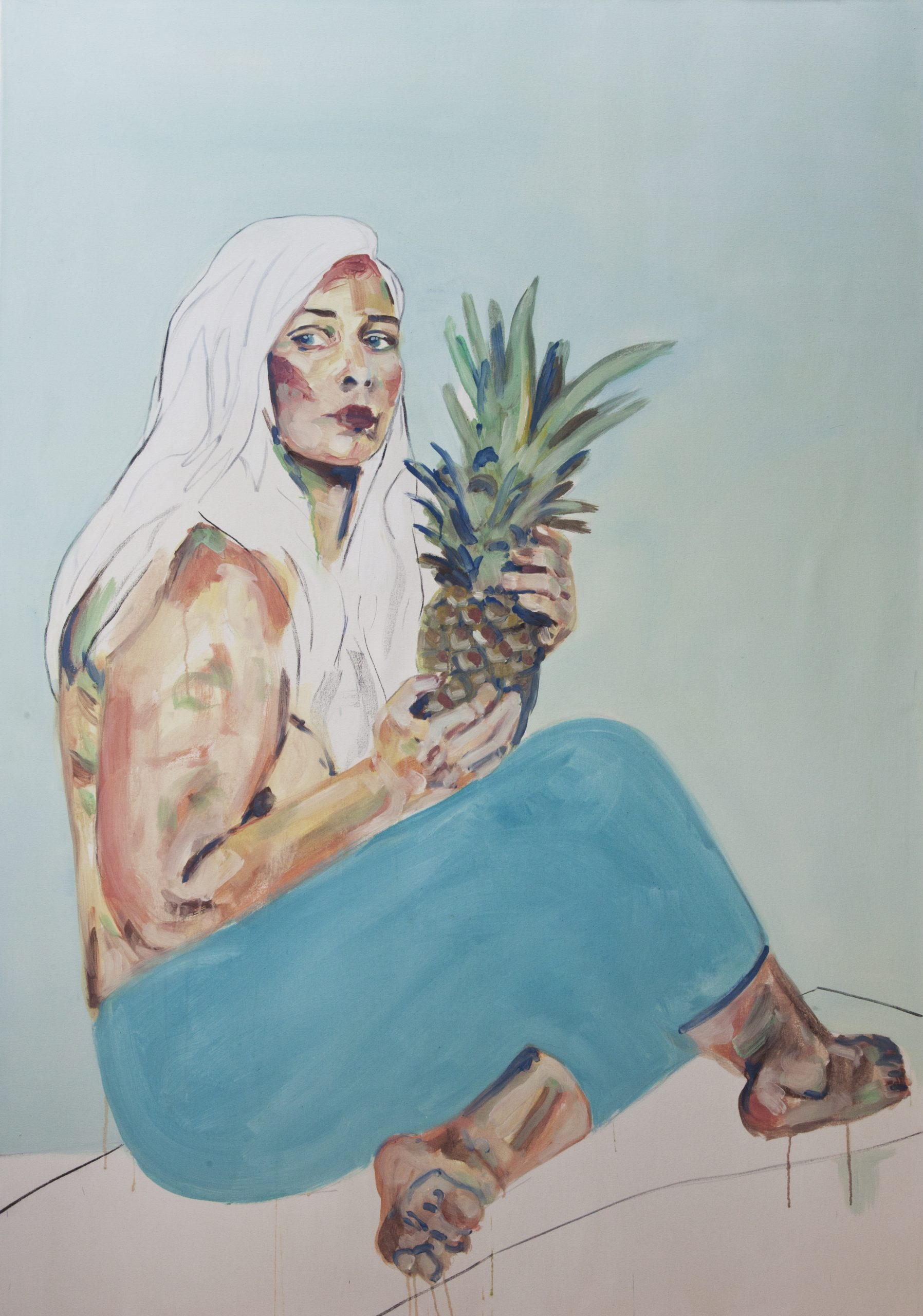 selfportrait with pineapple