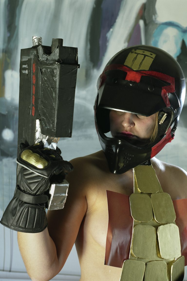 self-portrait as Judge Dredd